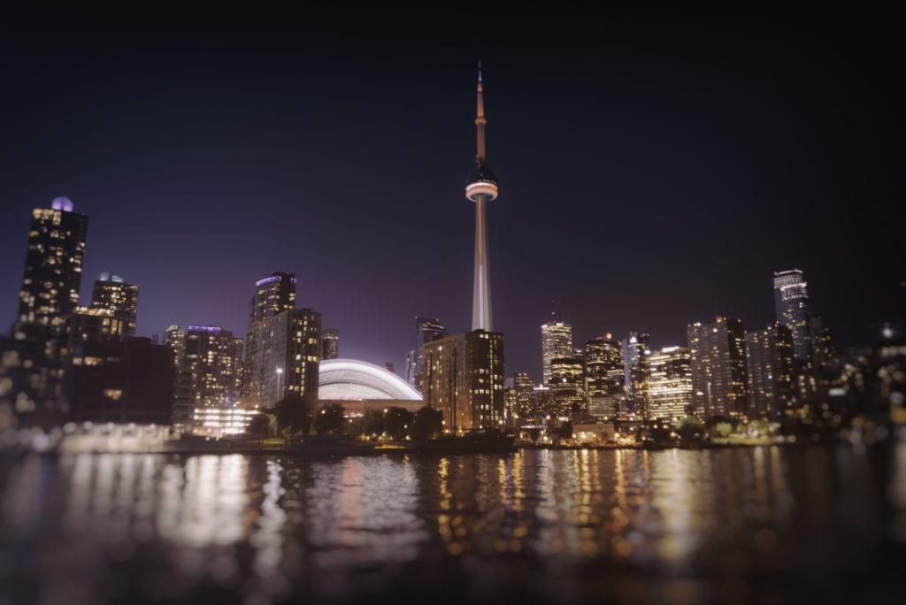 Toronto Skyline at Night. The Toronto, Canada city skyline at night.